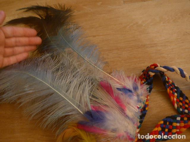 Arte: Antiguo gran plumaje o plumas de indio del amazonas, original. arte etnico. - Foto 9 - 201962045