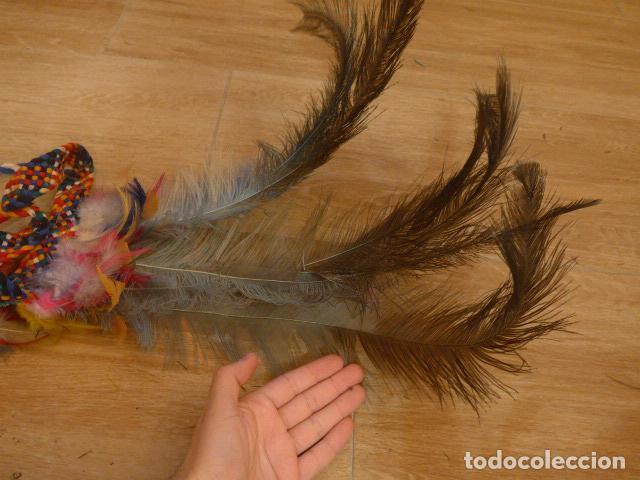 Arte: Antiguo gran plumaje o plumas de indio del amazonas, original. arte etnico. - Foto 10 - 201962045