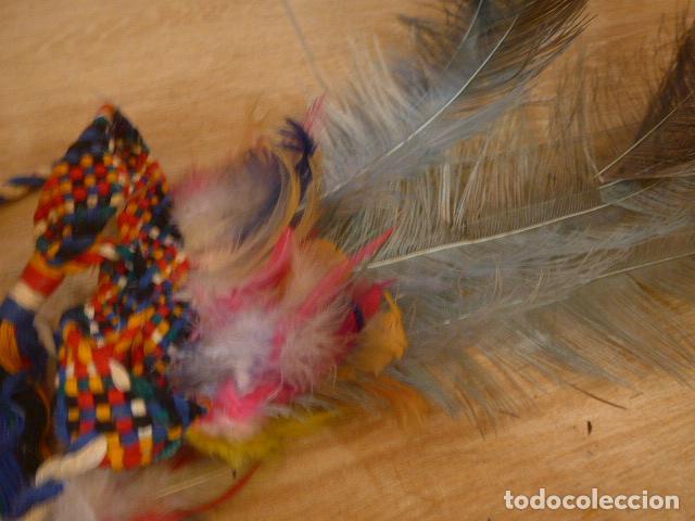 Arte: Antiguo gran plumaje o plumas de indio del amazonas, original. arte etnico. - Foto 11 - 201962045
