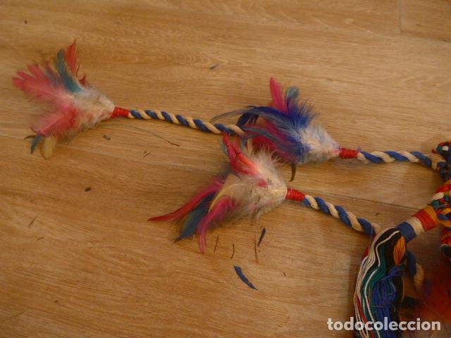 Arte: Antiguo gran plumaje o plumas de indio del amazonas, original. arte etnico. - Foto 12 - 201962045