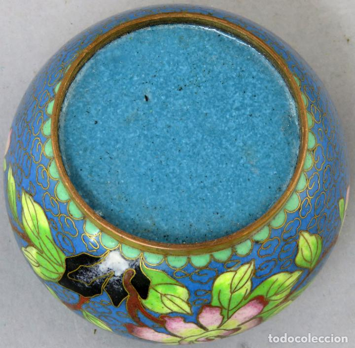 Arte: Cenicero en esmalte cloisonne tonos azules China siglo XX - Foto 9 - 203248741