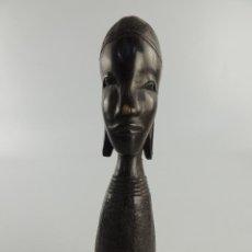 Arte: PRECIOSA FIGURA AFRICANA DE MADERA ARTE ETNICO EXCELENTE DECORACIÓN PIEZA DE COLECCION. Lote 204151763