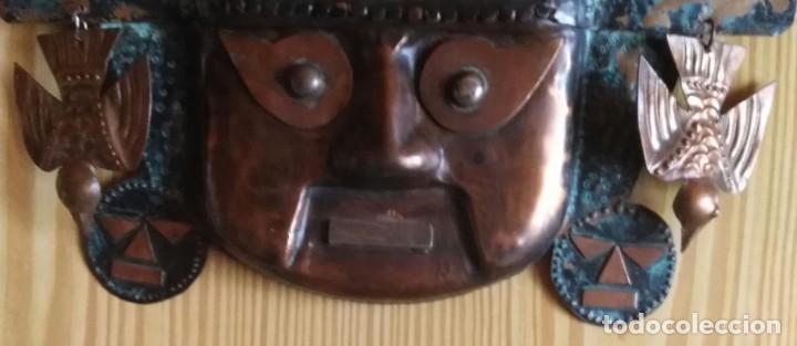 Arte: Máscara metal - Preparada para colgar - Pieza decorativa - 30cm x 28cm - Foto 4 - 204322375