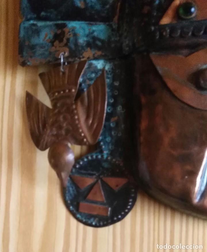 Arte: Máscara metal - Preparada para colgar - Pieza decorativa - 30cm x 28cm - Foto 5 - 204322375