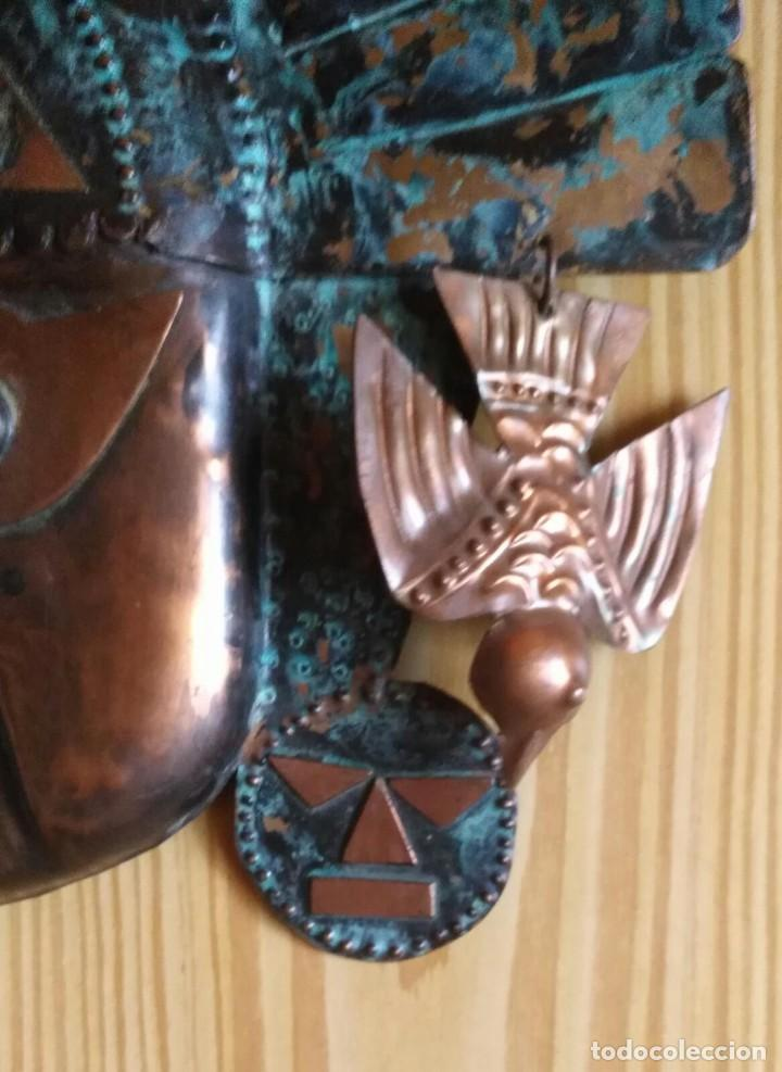 Arte: Máscara metal - Preparada para colgar - Pieza decorativa - 30cm x 28cm - Foto 6 - 204322375