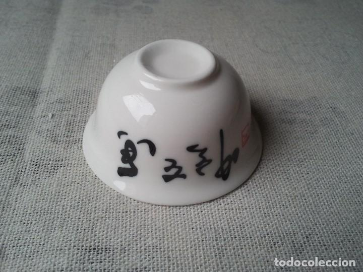 Arte: Vaso taza para te hecho de porcelana china de forma artesanal. Posee sello chino. Ceramica china zen - Foto 3 - 204781862