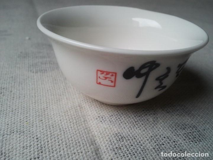 Arte: Vaso taza para te hecho de porcelana china de forma artesanal. Posee sello chino. Ceramica china zen - Foto 4 - 204781862