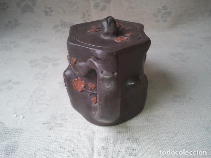 Arte: Tetera yixing las famosas teteras de arcilla morada china. Hecha artesanalmente. Artesania china. - Foto 4 - 205011843