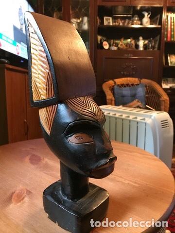 Arte: Figura de madera caoba , hecha a mano, Kenia - Foto 2 - 205389526