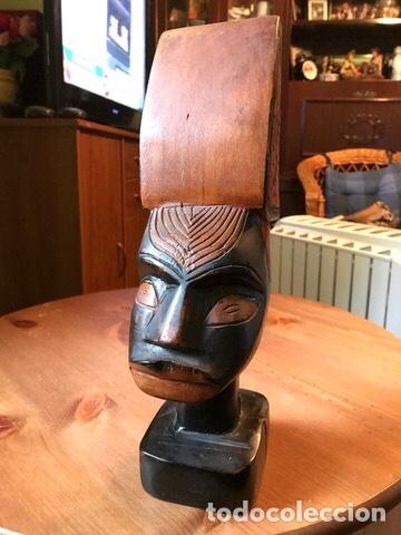 Arte: Figura de madera caoba , hecha a mano, Kenia - Foto 3 - 205389526