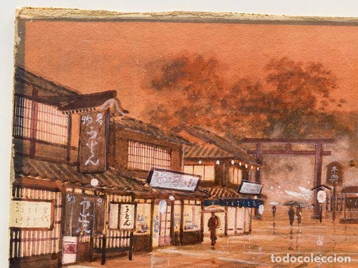Arte: KATO EIKA , ACUARELA ORIGINALDE JAPÓN , FIRMADA - Foto 2 - 67747233