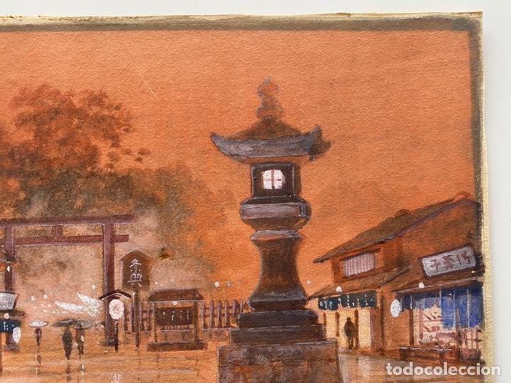 Arte: KATO EIKA , ACUARELA ORIGINALDE JAPÓN , FIRMADA - Foto 3 - 67747233