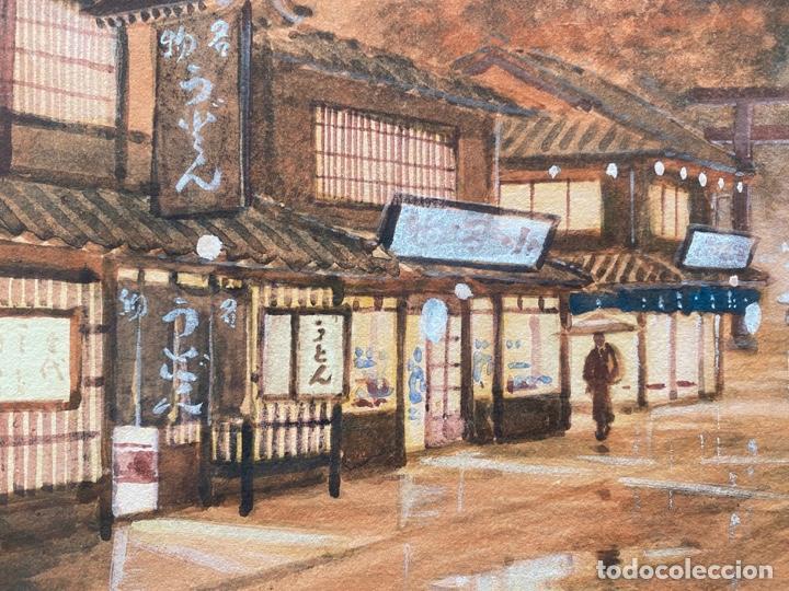 Arte: KATO EIKA , ACUARELA ORIGINALDE JAPÓN , FIRMADA - Foto 6 - 67747233