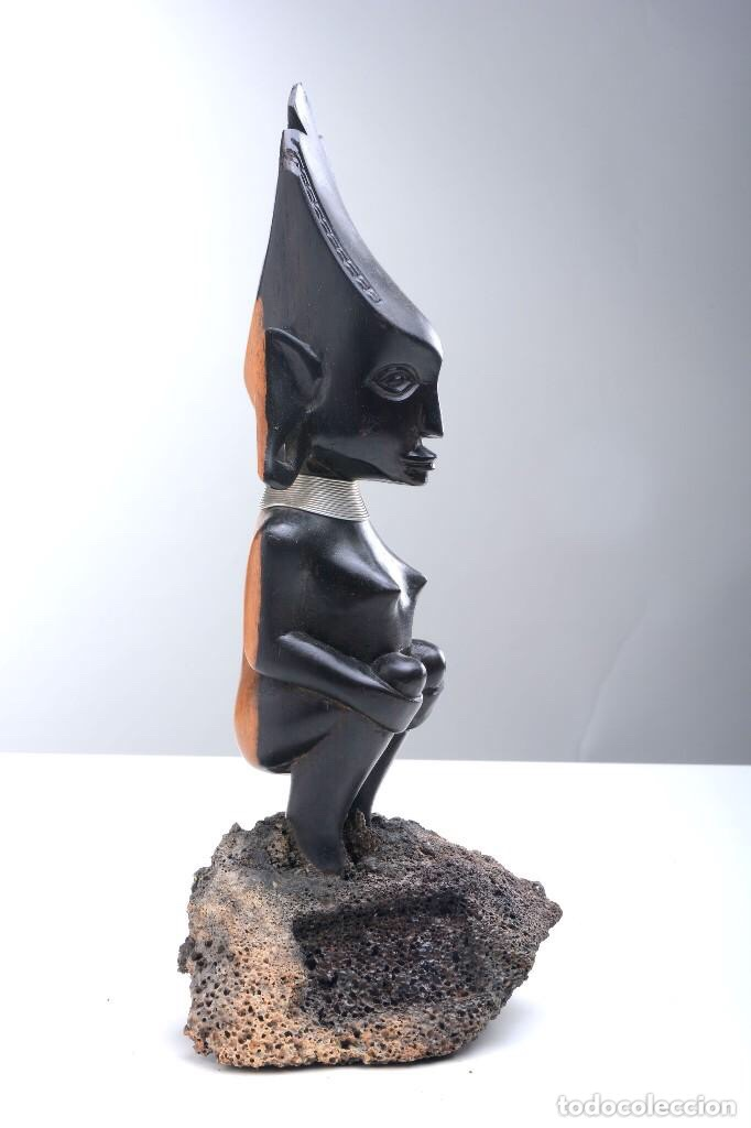 Arte: Talla de madera de ébano bicolor, altura 29 cm - Foto 4 - 205400365