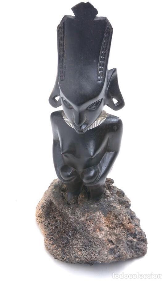 Arte: Talla de madera de ébano bicolor, altura 29 cm - Foto 5 - 205400365