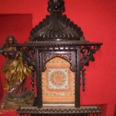 Arte: CAPILLA O ALTAR TALLADO EN MADERA. ORIENTAL ,MUY DETALLADO EN SU DECORACION ,. Lote 205763511