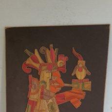 Arte: OBRA MEXICANA HECHA A MANO TROZOS DE MADERA. MIDE 35CMX27.5CM. Lote 206278685