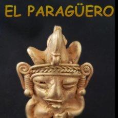 Arte: INDIO FRAUTISTA PRECOLOMBINO QUIMBAYA DE ORO TUMBAGA PESO 37 GRAMOS - Nº3. Lote 206340195