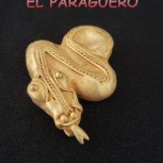 Arte: SERPIENTE PRECOLOMBINA QUIMBAYA DE ORO TUMBAGA PESO 22 GRAMOS - Nº2. Lote 206342543