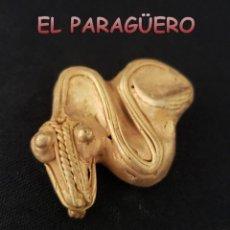 Arte: SERPIENTE PRECOLOMBINA QUIMBAYA DE ORO TUMBAGA PESO 22 GRAMOS - Nº4. Lote 206342850