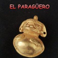 Arte: RARA PIEZA ZOOMORFICA PRECOLOMBINA QUIMBAYA DE ORO TUMBAGA PESO 20 GRAMOS - Nº5. Lote 206343187