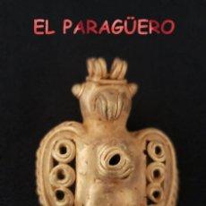 Arte: RARO PAJARO TICUA PRECOLOMBINO QUIMBAYA DE ORO TUMBAGA PESO 19 GRAMOS - Nº7. Lote 206344768