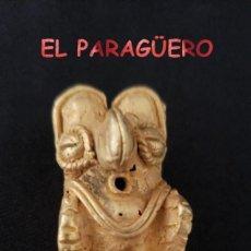 Arte: RARO PAJARO TOTERO PRECOLOMBINO QUIMBAYA DE ORO TUMBAGA PESO 17 GRAMOS - Nº9. Lote 206345680
