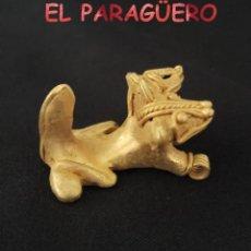 Arte: RARO JAGUAR DE 2 CABEZAS PRECOLOMBINO TAIRONA DE ORO TUMBAGA PESO 28 GRAMOS - Nº13. Lote 206349096