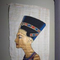 Arte: PAPIROS DE EGIPTO. LOTE 2 UNIDADES. CON CERTIFICADO DE DELTA PAPYRUS FÁBRICA.. Lote 207034888