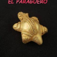 Arte: RARA TORTUGA PRECOLOMBINA TAIRONA DE ORO TUMBAGA PESO 18 GRAMOS - P1. Lote 207321145
