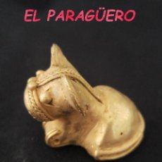 Arte: RARO PERRO SONAJERO ANTROPOMORFO PRECOLOMBINO QUIMBAYA DE ORO TUMBAGA PESO 31 GRAMOS - P4. Lote 207325271