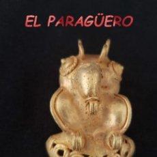 Arte: RARO PAJARO TEJERO PRECOLOMBINO TAIRONA DE ORO TUMBAGA PESO 20 GRAMOS - P7. Lote 207327885