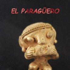 Arte: RARO MONO CACHERO PRECOLOMBINO QUIMBAYA DE ORO TUMBAGA PESO 43 GRAMOS - P9. Lote 207329231