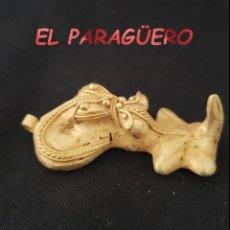 Arte: RARO REPTIL ANACONDA ATRAPANDO UN CATURRO PRECOLOMBINO TAIRONA DE ORO TUMBAGA PESO 28 GRAMOS - P12. Lote 207331455