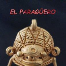 Arte: RARO INDIO CUCURO ZOOMORFICO PRECOLOMBINO QUIMBAYA DE ORO TUMBAGA PESO 33 GRAMOS - P13. Lote 207332948