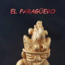Arte: RARO INDIO CHAMAN FLAUTISTA PRECOLOMBINO QUIMBAYA DE ORO TUMBAGA PESO 35 GRAMOS - P14. Lote 207334251