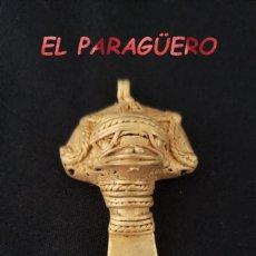 Arte: RARA TIPO LLAVE PIEZA ZOOMORFICA PRECOLOMBINA QUIMBAYA DE ORO TUMBAGA PESO 26 GRAMOS - P15. Lote 207335298