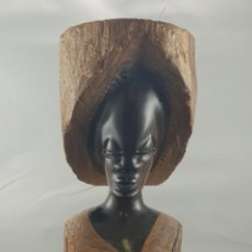 Arte: BONITA TALLA ÉBANO AFRICANA MEDIDAS 15 CM ALTO 8CM ANCHO. Lote 207524726