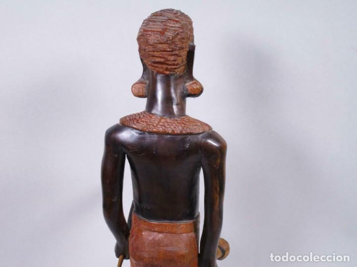 Arte: ANTIGUA ESCULTURA EBANO SEÑORA MUJER AFRICANA aprox. 49 cm MAGNIFICA MANUFACTURA 378,00 € - Foto 2 - 208107403