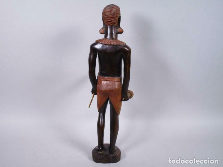 Arte: ANTIGUA ESCULTURA EBANO SEÑORA MUJER AFRICANA aprox. 49 cm MAGNIFICA MANUFACTURA 378,00 € - Foto 4 - 208107403