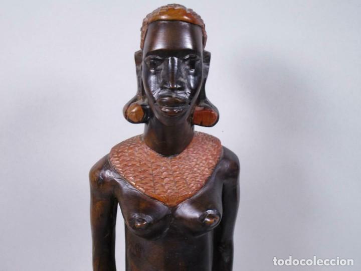 Arte: ANTIGUA ESCULTURA EBANO SEÑORA MUJER AFRICANA aprox. 49 cm MAGNIFICA MANUFACTURA 378,00 € - Foto 5 - 208107403
