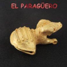 Art: VALE PARA COLGANTE RARA RANA SONAJERO PRECOLOMBINA QUIMBAYA DE ORO TUMBAGA PESO 28 GRAMOS - P7. Lote 208648170