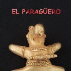 Art: VALE PARA COLGANTE RARO PAJARO TOTORO PRECOLOMBINO QUIMBAYA DE ORO TUMBAGA PESO 34 GRAMOS - P3. Lote 208648648