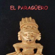 Art: VALE PARA COLGANTE - INDIO CHAMAN EROTICO PRECOLOMBINO QUIMBAYA DE ORO TUMBAGA PESO 35 GRAMOS - P14. Lote 208649068