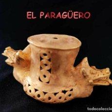 Art: MUY RARO - DOBLE PITA ZOOMORFICO PRECOLOMBINO QUIMBAYA DE ORO TUMBAGA PESO 116 GRAMOS - P15. Lote 208649375