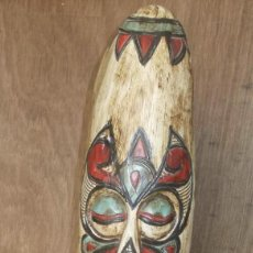 Art: MASCARA AFRICANA POLICROMADA. Lote 208665215