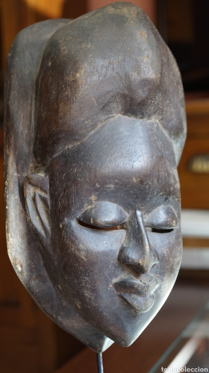 ARTE AFRICANO. MASCARA IBIBIO VINTAGE. NIGERIA (Arte - Étnico - África)