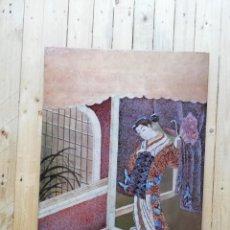 Arte: CUADRO PLAFON GHEISA EN LACA JAPONESA CASCARA DE HUEVO. Lote 209067590