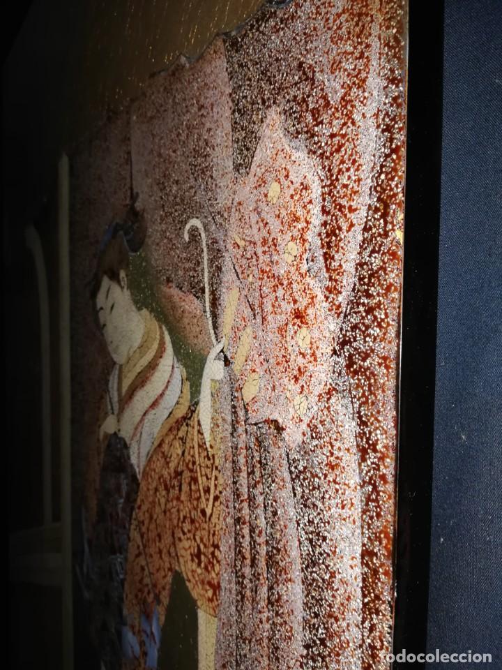 Arte: CUADRO PLAFON GHEISA EN LACA JAPONESA CASCARA DE HUEVO - Foto 7 - 209067590