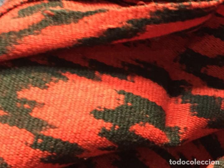 Arte: CHAL FAJA COLOMBIA ECUADOR TEJIDO TELAR ARTESANAL FRANJAS TRIANGULARES MITAD S XX 150X64CMS - Foto 12 - 210458596